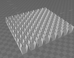 Acoustic insulation panel 3D printable model