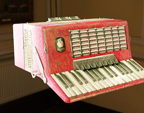 3D asset Weltmeister Stella 80 Bass Accordion Low Poly