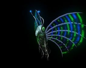 Butterfly Robot Batterifly 3D animated