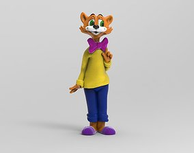 3D printable model Leopold the cat