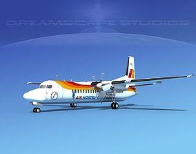 Fokker 50 Air Nostrum 3D model