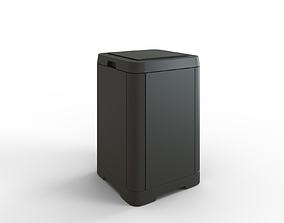 3D asset GIGANTISK Touch top trash can dark gray