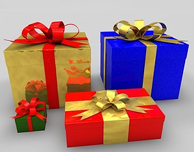 containers 3D Gift Boxes