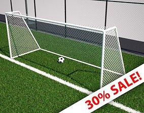 Football Net - soccer Net - Low Poly 3D model low-poly