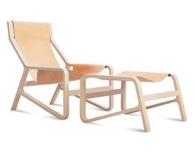 Wide Armchair 3D model