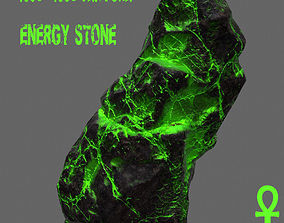 3D model VR / AR ready Glowing Rock energy