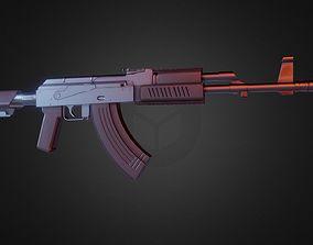 3D model AK 47 Assault Rifle