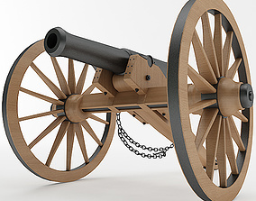 3D model Napoleon M1841 6 Pounder Collection
