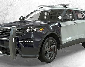 3D asset Ford Explorer Police Interceptor lowpoly