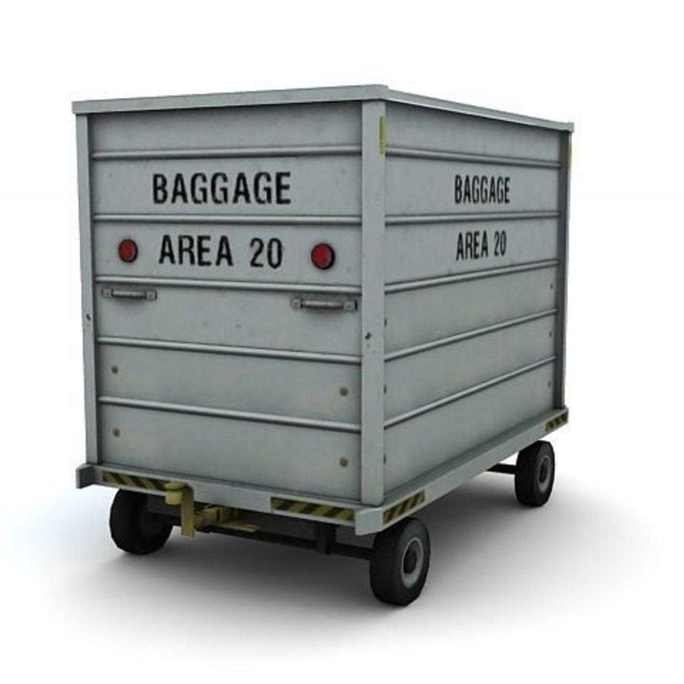 Airport Baggage Cart Trailer