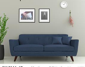 3D asset low-poly Simple Sofa