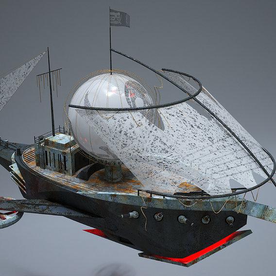 Sci-Fi Pirate Ship