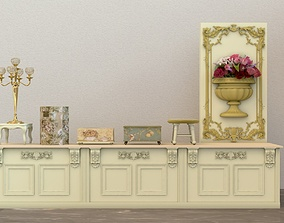 Product display counter 3D
