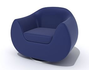 Modern Blue Armchair 3D