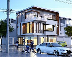 3D animated Modern Villa Design