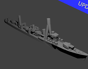 Japanese Shiratsuyu Class Destroyer 3D printable model