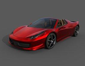 Low Poly Sports Car 3D asset