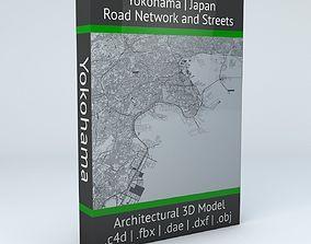 Yokohama Road Network and Streets 3D