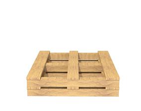 3D asset wooden pallet seat