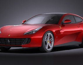 3D Ferrari GTC4 Lusso 2017 VRAY