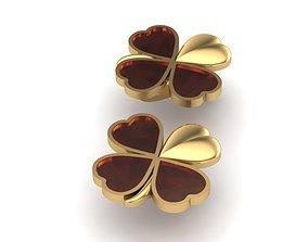 fashion 3D printable model Heart Earrings
