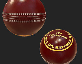 Cricket ball sports 3d model PBR