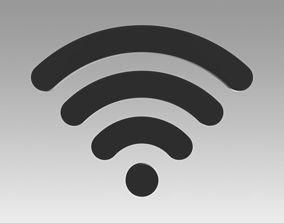 3D model Wifi wireless internet logo