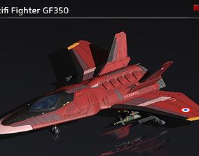 Scifi Fighter GF350 3D model