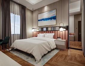 Bedroom 3D Rendering Interior game-ready