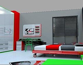 ducati themed room 3D model