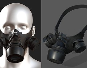 Gas mask black protection futuristic fantasy 3D model