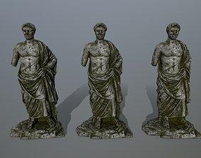 statue 5 3D asset low-poly