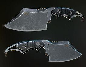 Army Butcher Knife 3D model