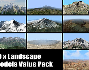 3D Volcano Mountains Pack