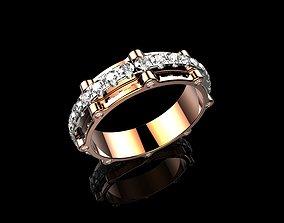 Mens Diamond Rings 18k Gold 3D printable model