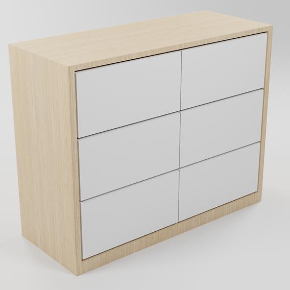 Modern White Wooden Drawer
