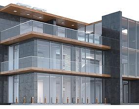 3 Floor Office Building city 3D model