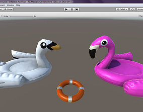 3D asset Inflatable Pool Toys