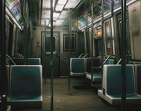City Subway Train - Unreal Project UE4 - PBR 3D asset 1
