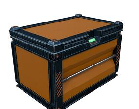 3D model low-poly Sci-Fi Box