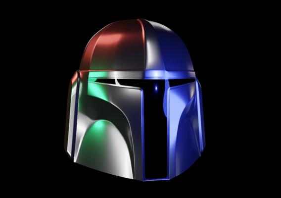 Low Poly Mandalorian Helmet