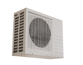 Low poly Air Conditioner Unit 2 3D model