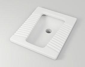 3D model Squat Toilet interior