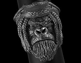 Pirate monkey vol2 ring jewelry 3D print model animal