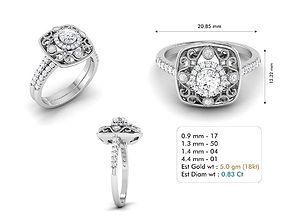 diamond-ring jewellery 3dm file
