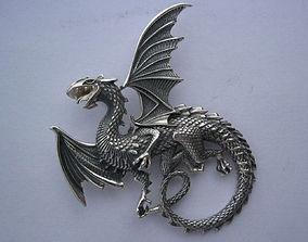 3D print model Whitby wyrm Dragon pendant