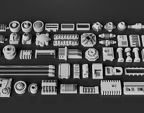 3D asset Greebles Pack