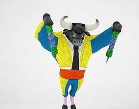 3D matador bull