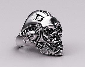 Bio-mechanical skull 3D print model
