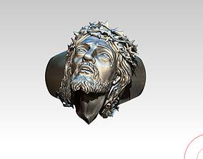 3D printable model Jesus Christ Ring Jewel